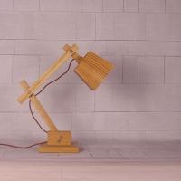 欧式台灯现代简约书房卧室床头实木台灯可折叠木质学生护眼装饰灯