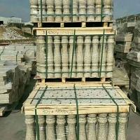 白麻石材花瓶柱 芝麻白-友三石业库存白麻现货