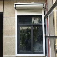 电动卷帘遮阳百叶窗铝合金双层中空卷闸门