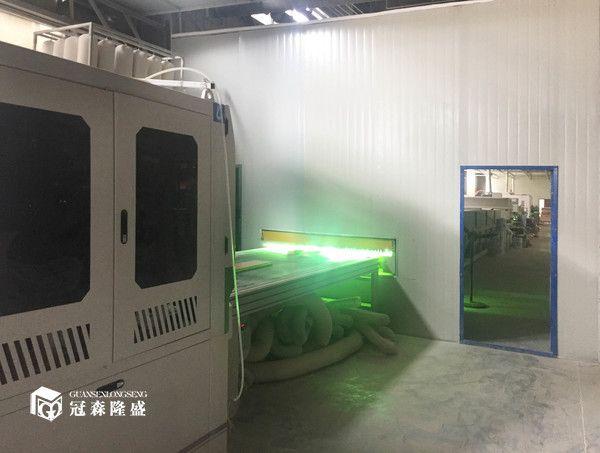 重庆冠森隆盛木门  80米uv生产线设备节约涂料