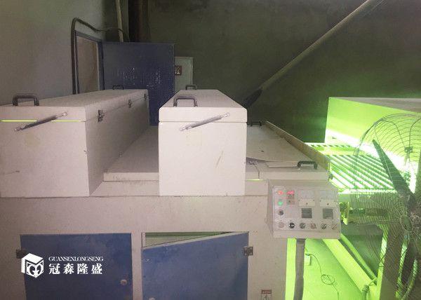 重庆冠森隆盛木门  80米uv生产线设备细节图