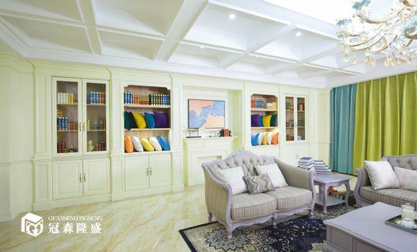 重庆冠森隆盛木门:书房整装场景图展示