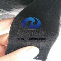 卷布机用黑绒布 黑色糙面绒布 黑色包辊绒布 黑绒布