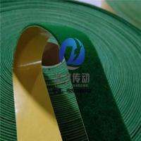 背胶绿绒包辊布 绿短绒糙面带 磨毛机用绿绒布