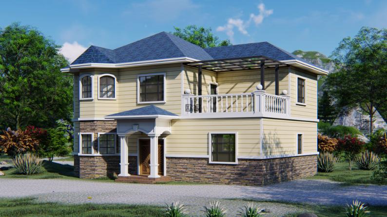 装配式建筑 农村轻钢自建房屋 轻钢别墅造价