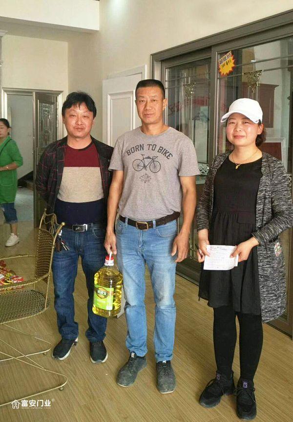 重庆富安木门:湖南常德专卖店开业当天成交量大