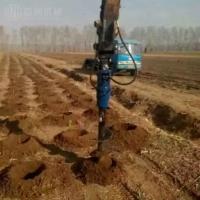 挖掘機帶的液壓鉆坑機