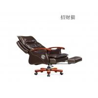 东莞真皮办公椅办公真皮老板椅可躺实木真皮大班椅