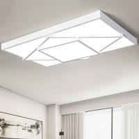 现代简约LED吸顶灯北欧创意长方形客厅餐厅几何个性卧室灯具灯
