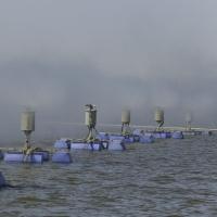 机械雾化蒸发塘