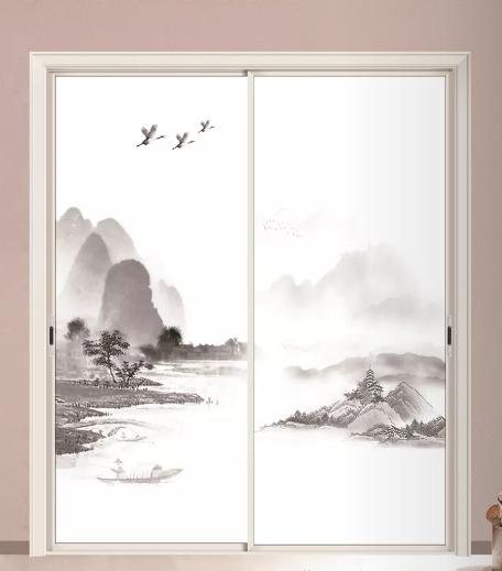 欧美亚中空玻璃装饰山水画系列