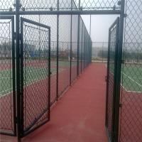 加工定制勾花围栏网篮球场围网规格齐整