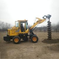 螺旋式挖坑機裝載機鉆孔機裝載機鉆孔打樁一體機輪式旋挖打樁機