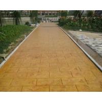 供应资阳生态压模砼地坪 压模地坪强化料 脱模粉  印花混凝土