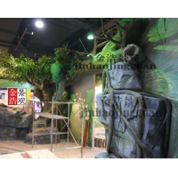 動物園假山假樹