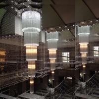 酒店大堂大型水晶灯具定制 酒店工程灯