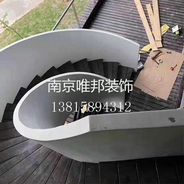 南京钢木楼梯-旋转楼梯-唯邦楼梯