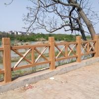 恒森景观水泥仿木护栏2-X 混凝土栏杆