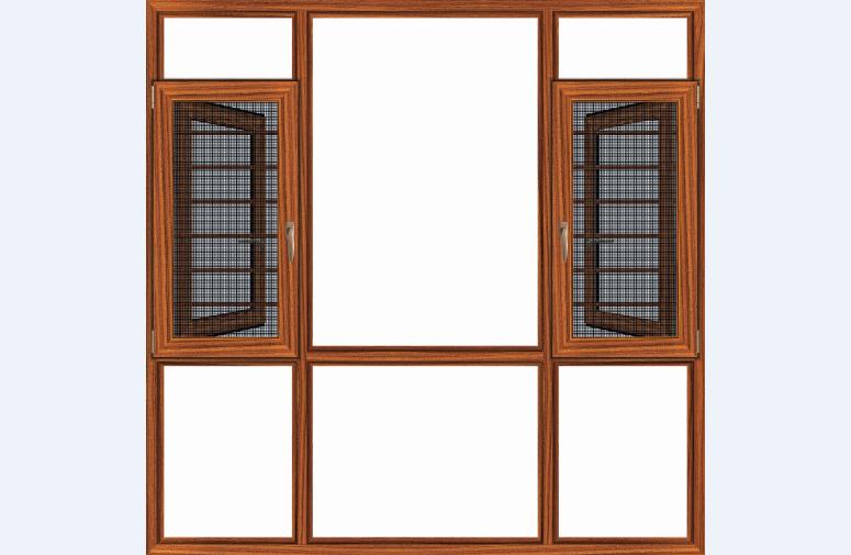 汉唐门窗108断桥窗纱一体平开窗
