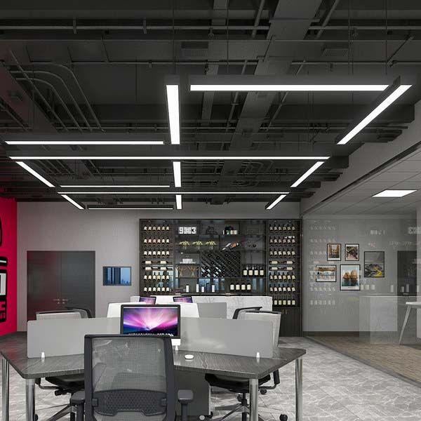 led長條燈辦公室吊燈現代簡約長方形工作室創意個性工業風辦公-- 豐光照明
