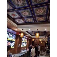 寺庙吊顶彩绘天花古建装修材料新中式横梁板