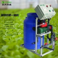 小型施肥機圖片價格 大棚蔬菜種植手動水肥一體化設備簡易好操作