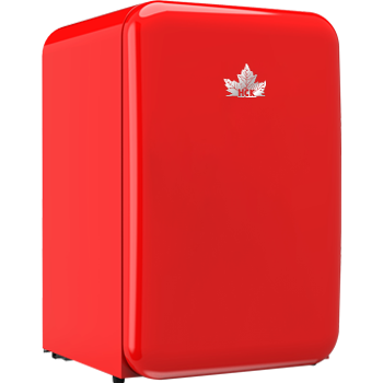HCK哈士奇 BC-130RDC复古彩色冰箱单门小型家用冷藏