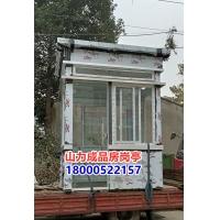 钢结构高大尚铝塑板岗亭、150x150x6方钢铝塑板岗亭