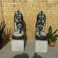 石雕吸水兽 青石仿古吸水兽 酒店招财神兽 动物雕塑