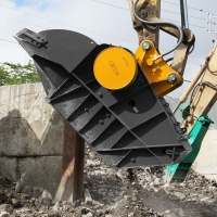 江西挖机破碎斗代理商  挖机粉碎斗价格