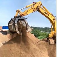 挖掘機液壓篩分斗廠家 砂石分篩斗產量