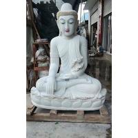 大理石释迦摩尼石雕坐佛汉白玉石雕佛像寺庙人物