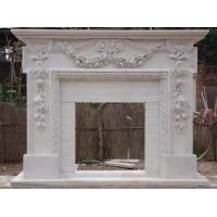 供应汉白玉石雕壁炉欧式室内取暖真火壁炉雕塑摆件