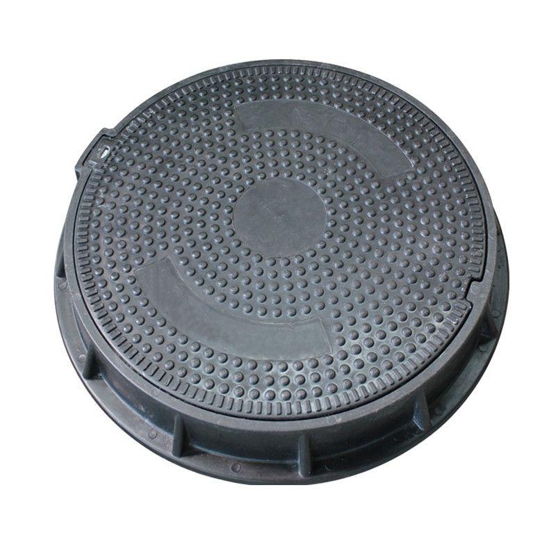 无锡优德 厂家直销 树脂复合圆形井盖 污水圆井盖沙井盖圆 500*5