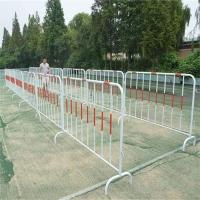 湖北黄冈供应优质黑黄红白铁马护栏 移动活动围栏