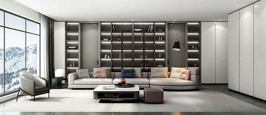 極簡輕奢客廳裝飾櫃
