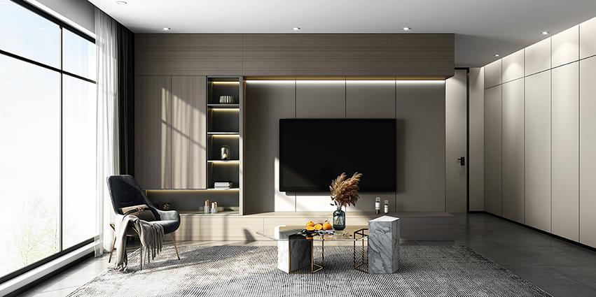 現代極簡客廳電視櫃