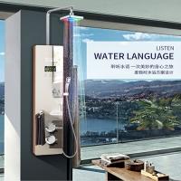 斯瑞斯特1.2米精致款钢化镜面玻璃集成淋浴屏