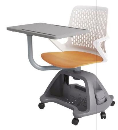 SJ多功能培訓椅gpx-zw02帶置物籃帶寫字板可選裝軟包墊