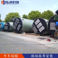甘肃专业定制一体化预制泵站  玻璃钢材质 防腐耐用