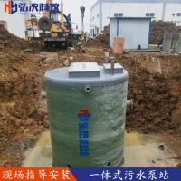 弘泱直销地埋式一体化预制泵站  雨水处理设备