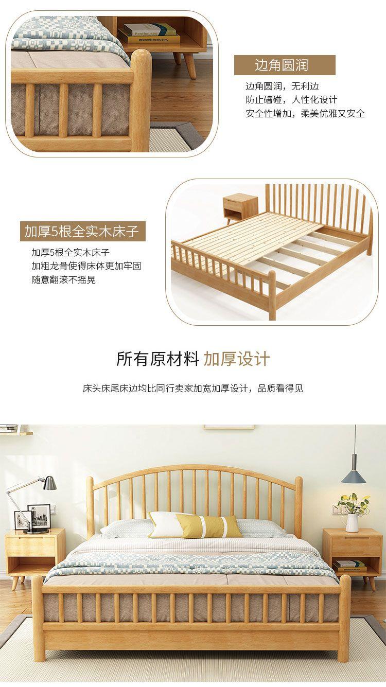 单人床1米宽实木床【多图】_价格_图片- 天猫精选