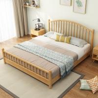 北欧实木床现代简约单人床1.8米1.5米双人床日式温莎床厂家
