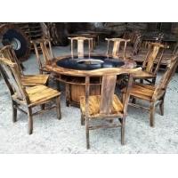 炭燒木火鍋桌椅,實木火鍋桌,四川大理石火鍋桌廠家