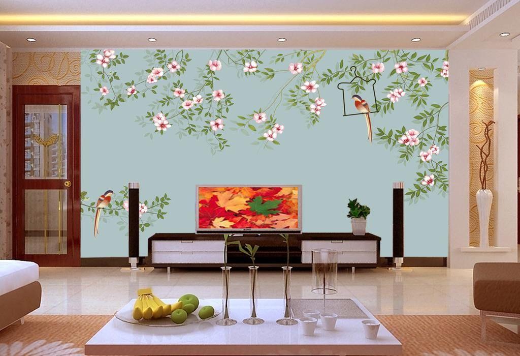 手绘创意电视背景墙_3D 5D 8D 电视背景墙,手绘壁画,软硬包均可定制 - 图森壁画 - 九 ...