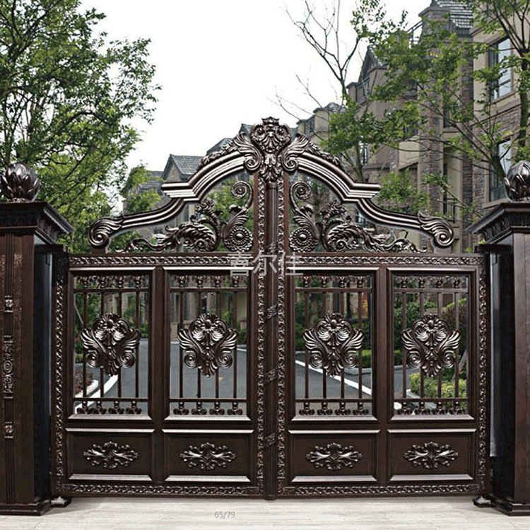喜尔佳别墅铝艺庭院门