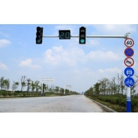 厂家定制交通路口L型T型信号灯杆 道路警示LED指示灯信号红
