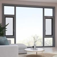 平開窗定制斷橋鋁合金窗紗一體窗防盜玻璃窗封陽臺隔音隔熱落地窗