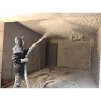 河南雨阁月无机纤维喷涂施工预备工作