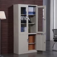 加厚文件柜办公资料财务凭证柜五节铁皮档案柜储物柜书柜抽屉带锁